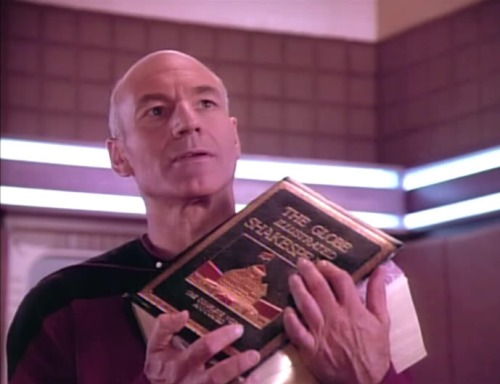 Jean-Luc Picard Reads Shakespeare